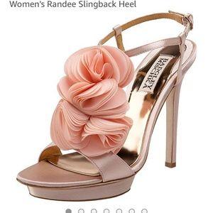 Badgley Mischka Satin Floral Heels 7.5
